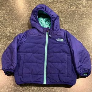 The North Face Purple Reversible Jacket / Coat 2T